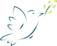 Vredesduif vector illustratie