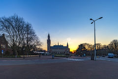 Vredespaleis bij de zonsondergang Royalty-vrije Stock Foto's