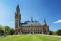 Vredespaleis in Den Haag, Nederland Het huisvest onder ander t Stock Fotografie