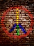 Vredessymbool Royalty-vrije Stock Afbeeldingen