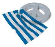 Vredessymbool en vlag van Griekenland Stock Afbeelding