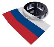 Vredessymbool en vlag van Rusland Royalty-vrije Stock Afbeeldingen