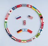 Vredessymbool van vlaggen stock fotografie