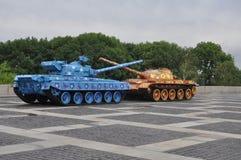 Vredestanks, Militair Museum Kiev de Oekraïne Royalty-vrije Stock Fotografie