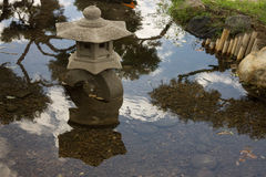 Vreedzaam detail in het Japanse park Stock Foto's