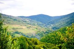 Vreedzaam landschap in de Transylvanian-bergen Stock Fotografie