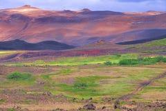 Vreedzaam landschap in IJsland Royalty-vrije Stock Foto
