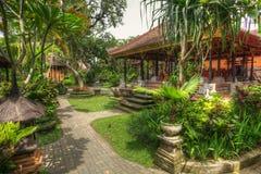 Vreedzaam landschap in Istana Ubud, Bali, Indonesië stock afbeelding