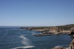 Vreedzaam Oceaanrocky landscape Stock Foto