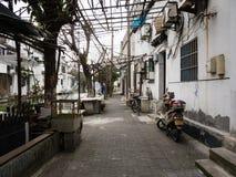 Vreedzaam ogenblik in de binnenplaats van de oude stad van Suzhou Royalty-vrije Stock Foto