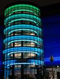 Vreedzaam ontwerpcentrum bij nacht. Royalty-vrije Stock Afbeelding