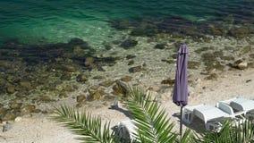 Vreedzaam strand Royalty-vrije Stock Foto