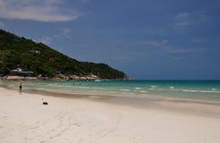Vreedzaam strand in Phangan Stock Foto's