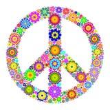 Vreedzaam symbool op witte achtergrond Royalty-vrije Stock Afbeeldingen