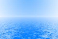 Vreedzame blauwe oceaanachtergrond Royalty-vrije Stock Foto's
