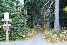 Vreedzame CREST-Sleep Windy Joe Trail Sign Royalty-vrije Stock Fotografie