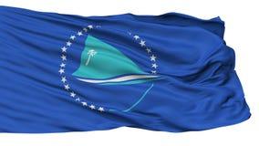 Vreedzame die Comm-Vlag, op Wit wordt geïsoleerd stock illustratie
