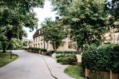 Vreedzame gang in Stockholm, Zweden royalty-vrije stock afbeelding
