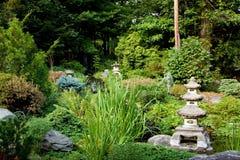 Vreedzame Japanse tuin Royalty-vrije Stock Afbeelding