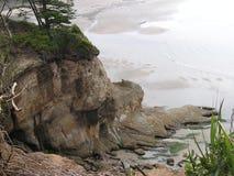 Vreedzame kust en oceaan Royalty-vrije Stock Foto