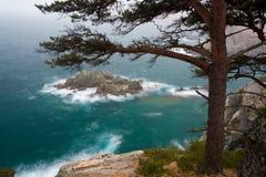 Vreedzame kust (onweer) stock fotografie