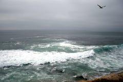 Vreedzame kust in San Diego Mooi landschap stock foto