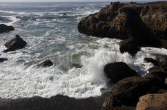 Vreedzame Kust, Sonoma-Provincie, Californië royalty-vrije stock afbeelding