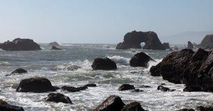 Vreedzame Kust, Sonoma-Provincie, Californië stock afbeelding