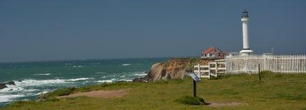 Vreedzame kustenindrukken van het Licht van de Puntarena, Californië de V.S. royalty-vrije stock foto