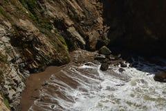 Vreedzame kustenindrukken van het Licht van de Puntarena, Californië de V.S. royalty-vrije stock foto's