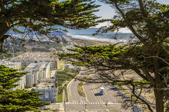 Vreedzame Kustweg in Noordelijk Californië Royalty-vrije Stock Afbeeldingen