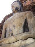 Vreedzame Mediterende Boedha in Sukhothai stock foto
