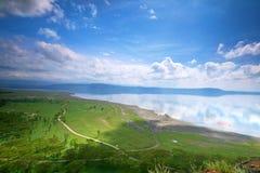 Vreedzame mening over het meer Nakuru Royalty-vrije Stock Afbeeldingen