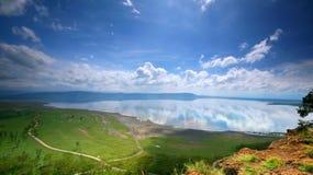Vreedzame mening over het meer Nakuru Stock Foto's