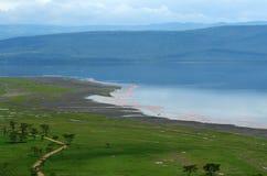 Vreedzame mening over het meer Nakuru Stock Afbeeldingen