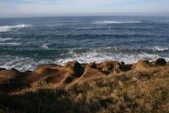 Vreedzame Oceaan bij de Kust van Oregon stock afbeeldingen