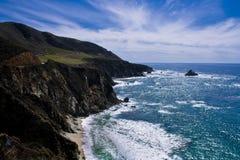 Vreedzame Oceaan, Grote Sur, Californië Stock Fotografie