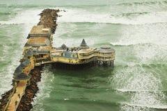 Vreedzame Oceaan in Lima Stock Foto's