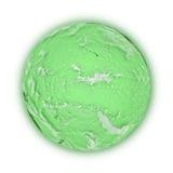 Vreedzame Oceaan op groene aarde Stock Afbeelding