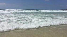 Vreedzame Oceaangolven, Bondi-Strand, Sydney, Australië stock videobeelden