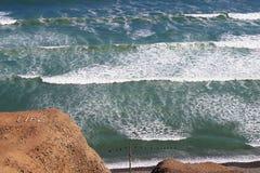 Vreedzame oceaanmening in Lima, Peru Stock Afbeeldingen