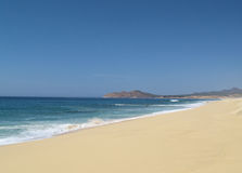 Vreedzame oceaanmening in Los Cabos Mexico Royalty-vrije Stock Afbeeldingen