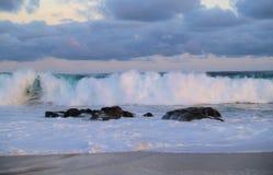 Vreedzame oceaanmening in Los Cabos Mexico stock afbeeldingen