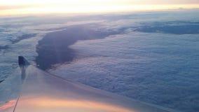 Vreedzame oceaanwolken Stock Foto