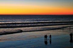 Vreedzame Oceaanzonsondergang in San Diego Stock Afbeelding