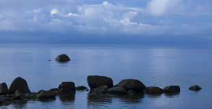 Vreedzame ocean.GN stock foto's