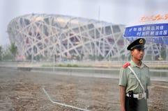 Vreedzame olympics? Stock Foto's