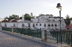 Vreedzame Oost-Algarve stad Tavira in Portugal Royalty-vrije Stock Foto's