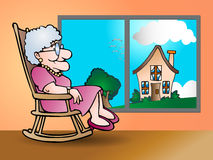 Vreedzame pensionering royalty-vrije illustratie