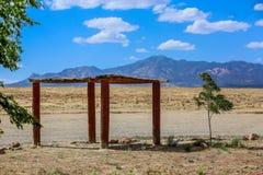 Vreedzame schaduw in de rust van Arizona einde Stock Afbeelding